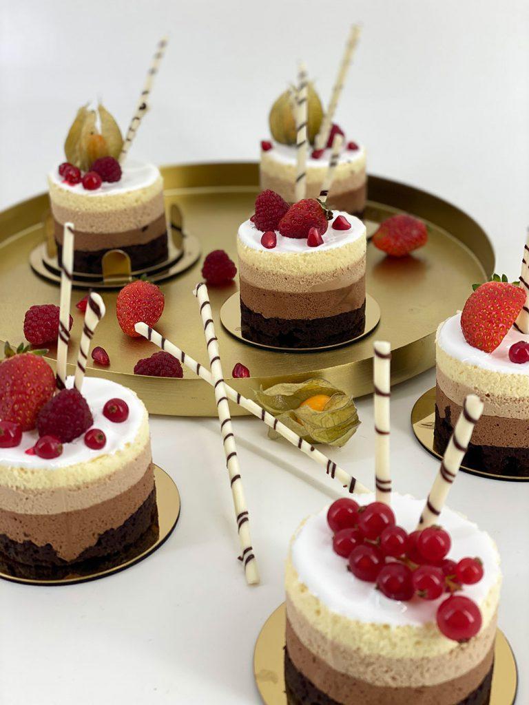 trio chocolate mousse